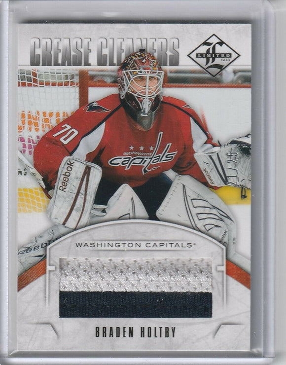 Braden Holtby 2012-13 Limited Crease Cleaners Jersey card CC-BH Prime #d 21/25