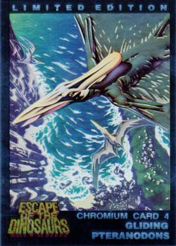 1993 Dynamic Escape Of The Dinosaurs Chromium card #4 Pternadons