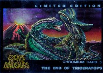 1993 Dynamic Escape Of The Dinosaurs Chromium card #5 The End of