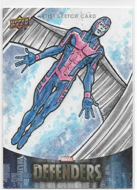 Marvel Defenders Archangel Sketch by Artist Luke Welch