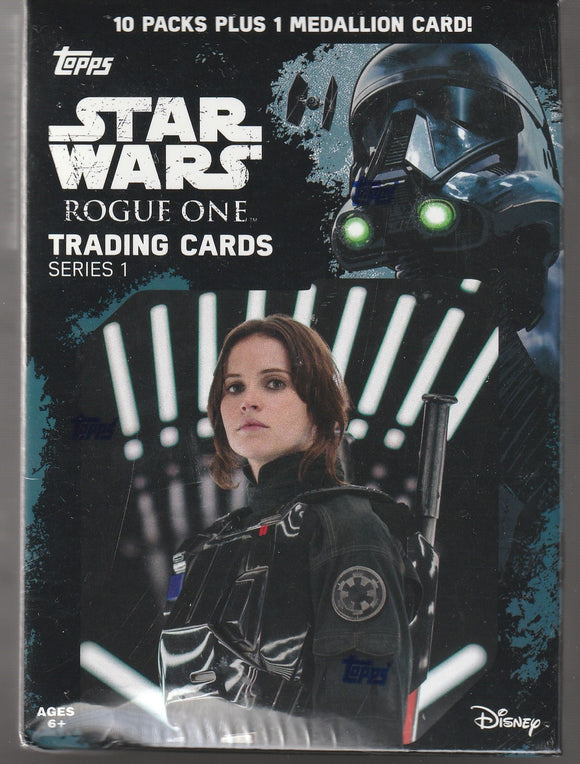 Star Wars Rogue One Series 1 Factory Sealed box 10 Packs Plus 1 Medallion