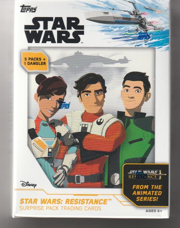 Star Wars Resistance Factory Sealed box 5 Packs Plus 1 Dangler
