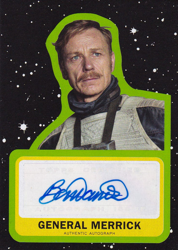Star Wars Journey to The Last Jedi Ben Daniels as General Merrick Autograph card A-BD