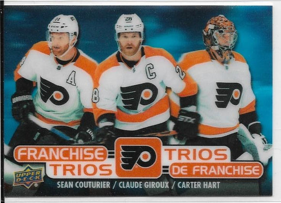 Couturier Giroux Hart 2020-21 Tim Hortons Franchise Trios card T-17 Flyers