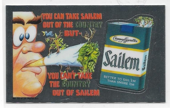 2014 Topps Chrome Wacky Packages Wacky Ads #31 Sailem Cigarettes