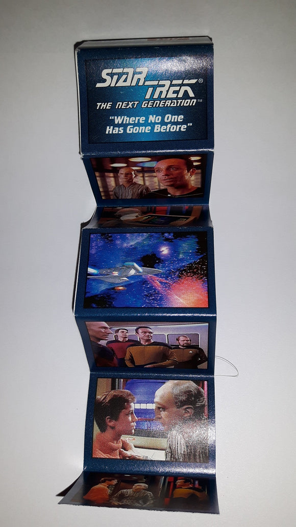 1993 Skybox Hostess Star Trek Next Generation Mini Poster Where No One Has Gone Before
