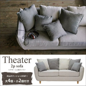 Theater 2P cushions sofa