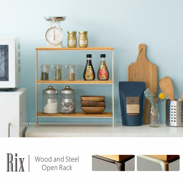 RIX wood&Steel Open Rack