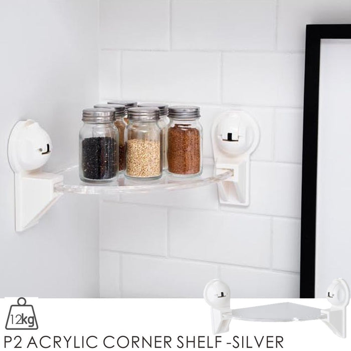 P2 ACRYLIC CORNER SHELF