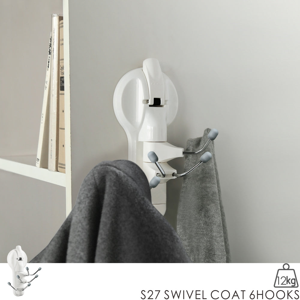 S27 SWIVEL COAT 6HOOKS
