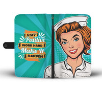 Nurse Retro Wallet Phone Case - gaatshirts.com