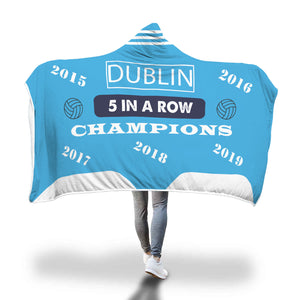 Dublin 5 In A Row Hooded Blanket