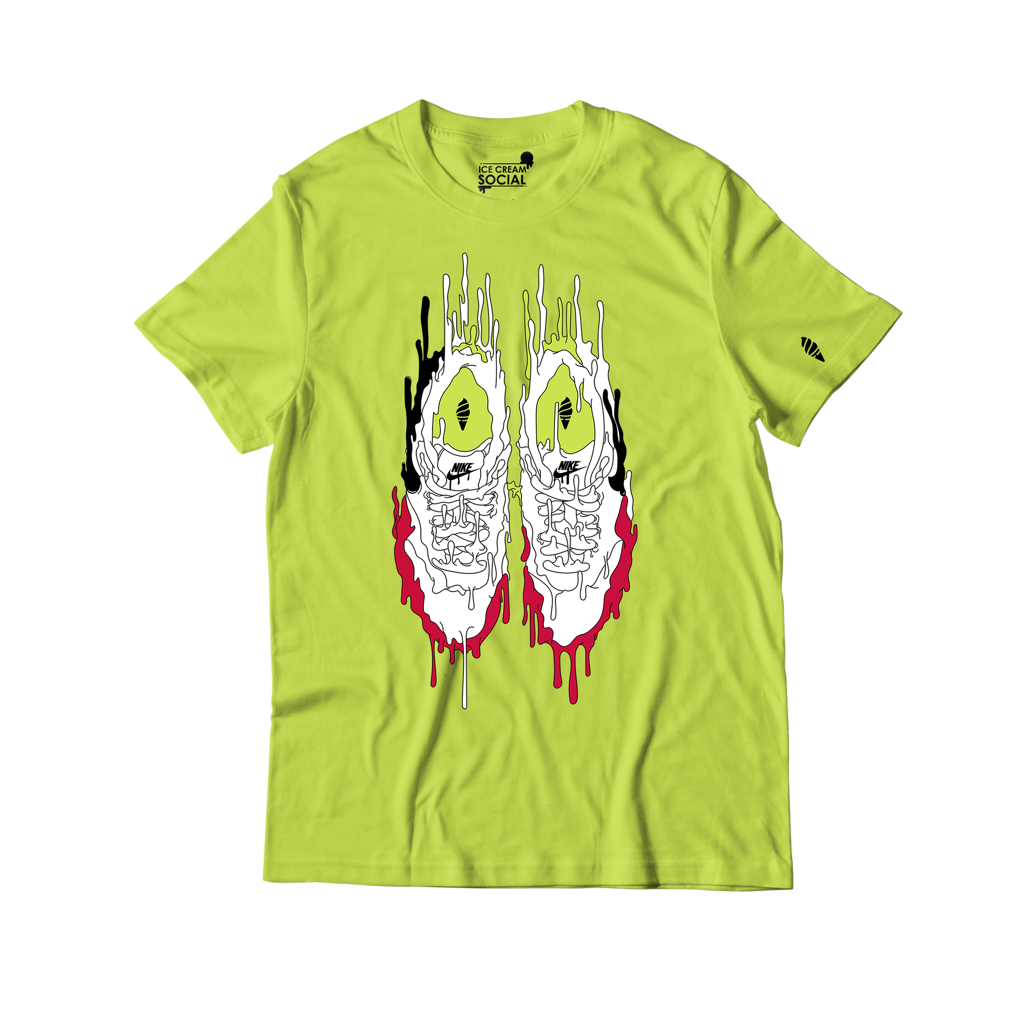 Ice Cream Social Air Max Drip T-Shirt - Volt