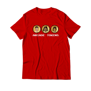 Arcade Tokens 3 Coin T-Shirt - Red