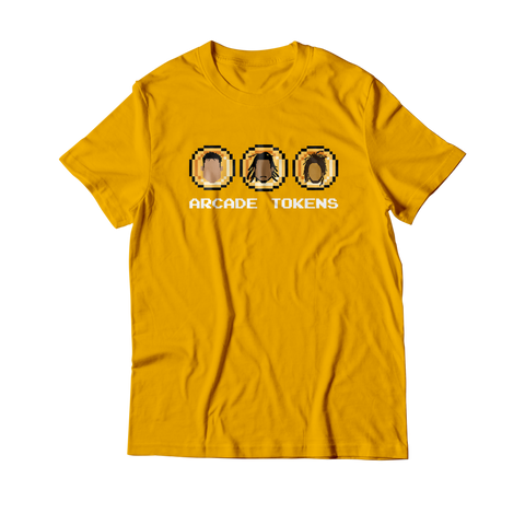 Arcade Tokens 3 Coin T-Shirt - Yellow