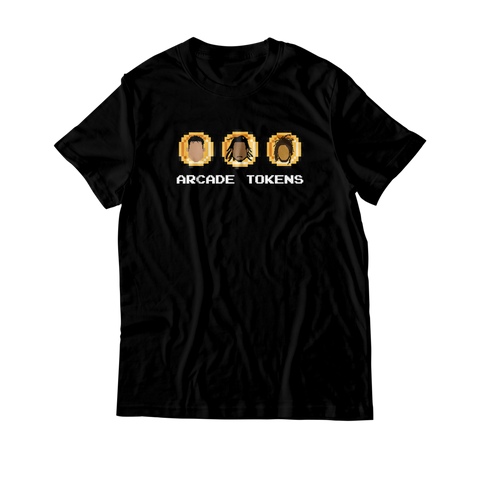 Arcade Tokens 3 Coin T-Shirt - Black