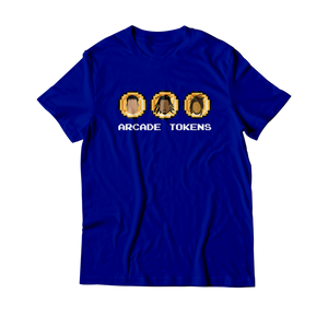 Arcade Tokens 3 Coin T-Shirt - Blue