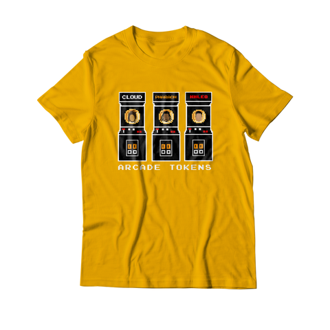 Arcade Tokens Token Machine T-Shirt - Yellow