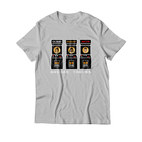 Arcade Tokens Token Machine T-Shirt - Grey