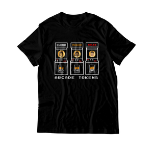 Arcade Tokens Token Machine T-Shirt - Black