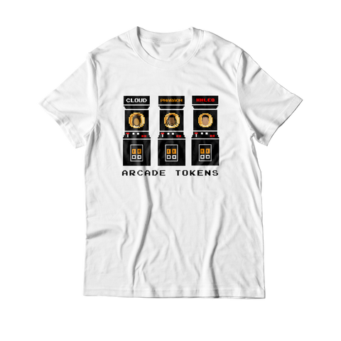 Arcade Tokens Token Machine T-Shirt - White