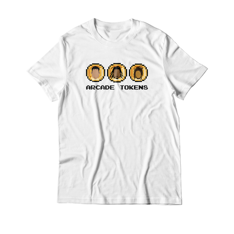 Arcade Tokens 3 Coin T-Shirt - White