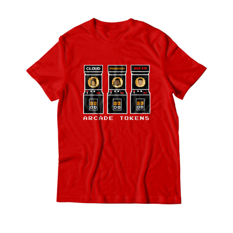 Arcade Tokens Token Machine T-Shirt - Red
