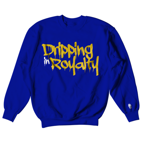 W.A.P Drippin in Royalty Crewneck - Blue