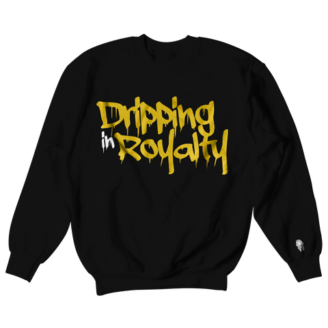 W.A.P Drippin in Royalty Crewneck - Black