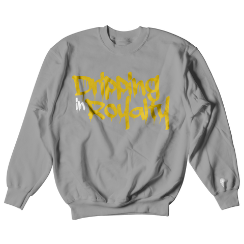 W.A.P Drippin in Royalty Crewneck - Grey