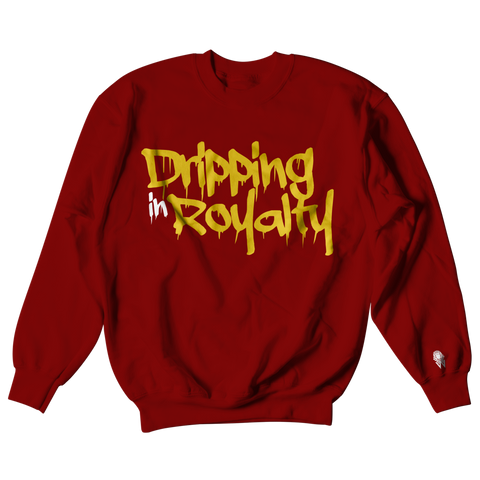 W.A.P Drippin in Royalty Crewneck - Maroon