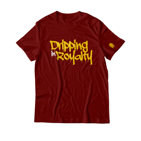 W.A.P Drippin In Royalty T-Shirt - Maroon