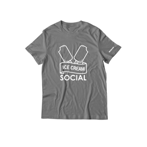 Ice Cream Social Bars T-Shirt - Grey