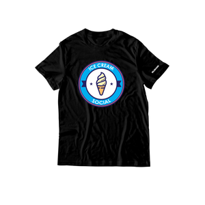 Ice Cream Social Emblem T-Shirt - Black
