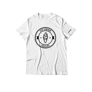 Ice Cream Social Emblem T-Shirt - White