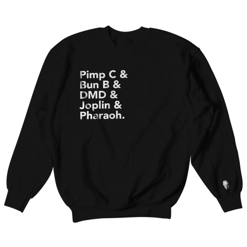 W.A.P Port Arthur Texas Finest Crewneck - Black