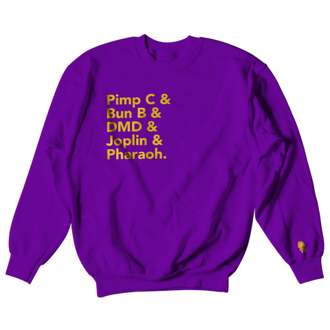 W.A.P Port Arthur Texas Finest Crewneck - Purple