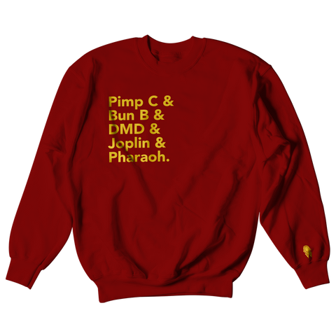 W.A.P Port Arthur Texas Finest Crewneck - Maroon/Gold