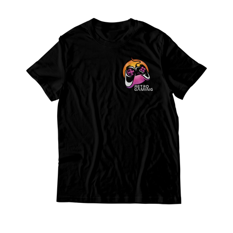 Arcade Tokens Retro Gaming T-Shirt - Black