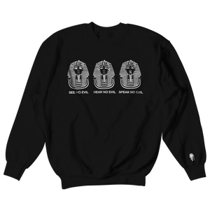 W.A.P See Speak Hear No Evil Crewneck - Black