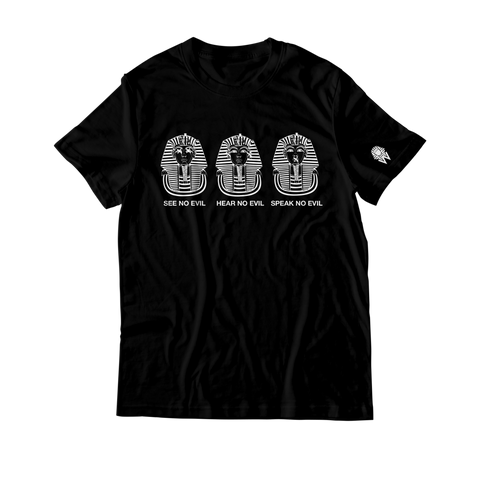 W.A.P See Speak Hear No Evil T-Shirt - Black