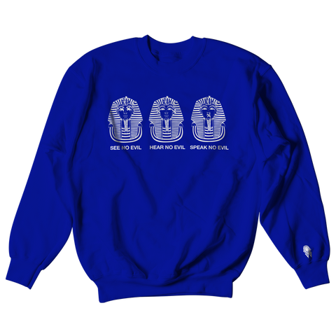 W.A.P See Speak Hear No Evil Crewneck - Blue