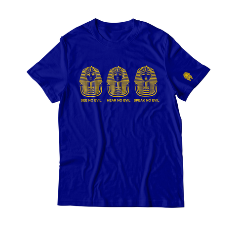 W.A.P See Speak Hear No Evil T-Shirt - Blue