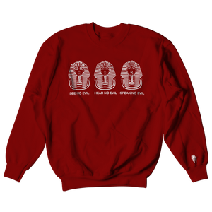 W.A.P See Speak Hear No Evil Crewneck - Maroon