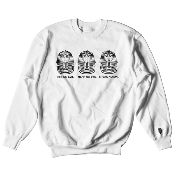W.A.P See Speak Hear No Evil Crewneck - White