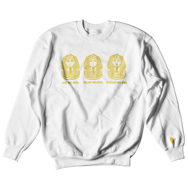 W.A.P See Speak Hear No Evil Crewneck - White/Gold