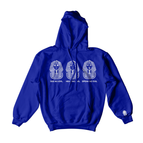 W.A.P See Speak Hear No Evil Hoodies - Blue