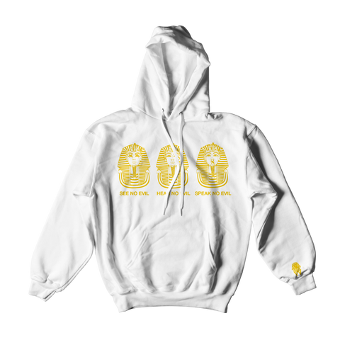 W.A.P See Speak Hear No Evil Hoodies - White/Gold