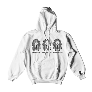 W.A.P See Speak Hear No Evil Hoodies - White