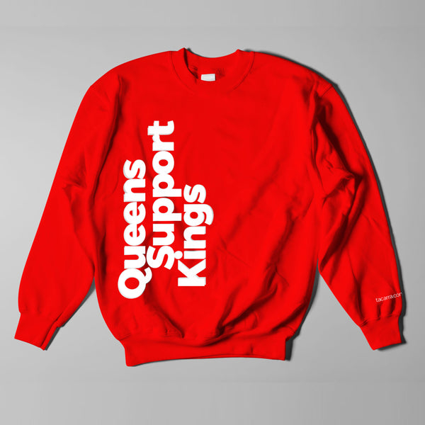 """Queens Support Kings"" Unisex Crewnecks by Tacarra Williams"